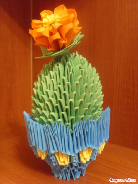 Модульного оригами схема кактуса.