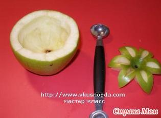 Как из яблок сделать цветы из