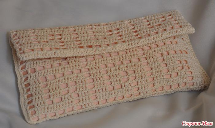 Тэги: крючок, клатч, вязание