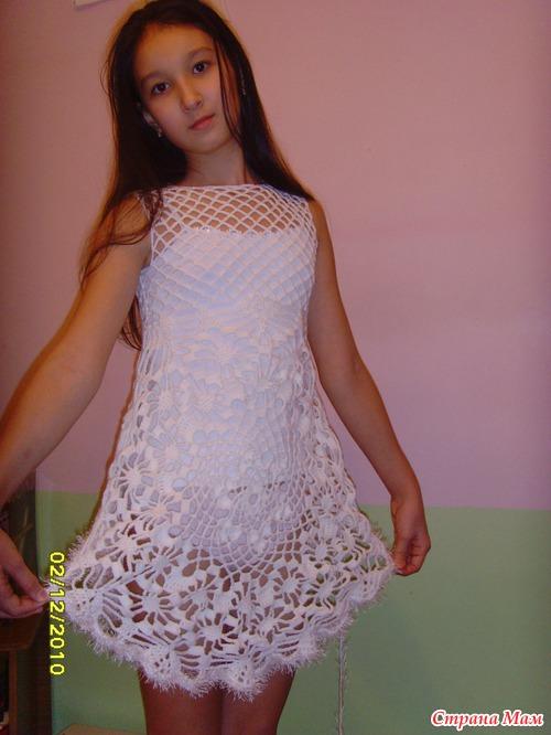 2 Платье для девочки Вязание