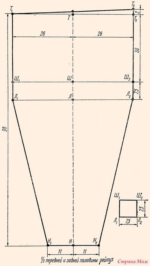 Схема вязания рейтузы на