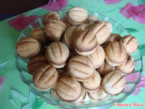 Рецепт орешков со сгущенкой в формочках пошагово