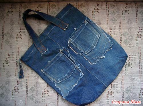 Шитье джинсовая сумка своими