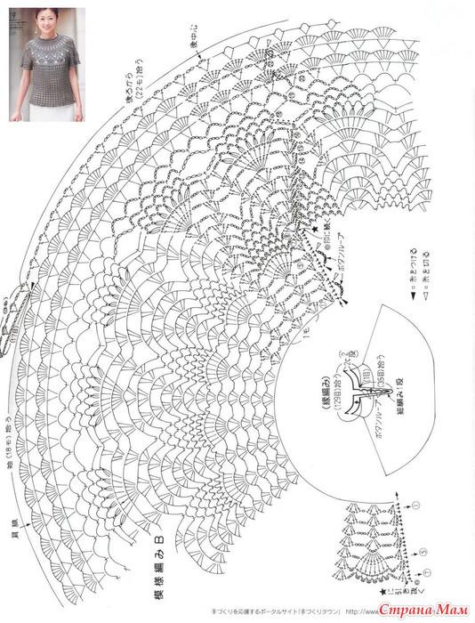 b Вязание /b крючком b круглые кокетки /b схемы.