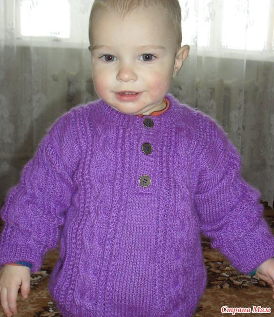 Связать детский свитер схема 203
