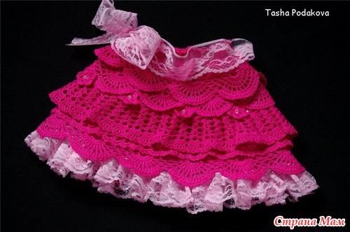 Вязаная юбочка для девочки