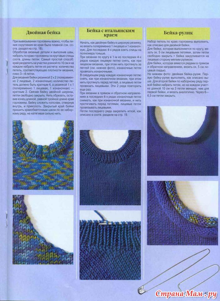 Виды горловин для вязания 90