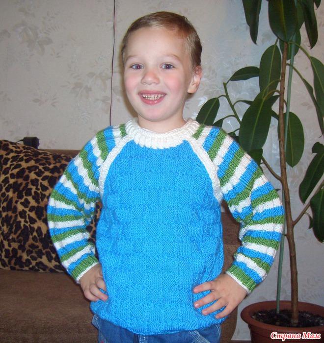 Вязание регланом для детей мастер класс 71