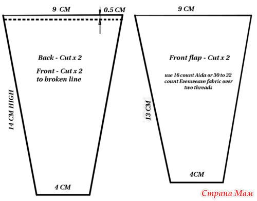 Схема вышивки ножниц