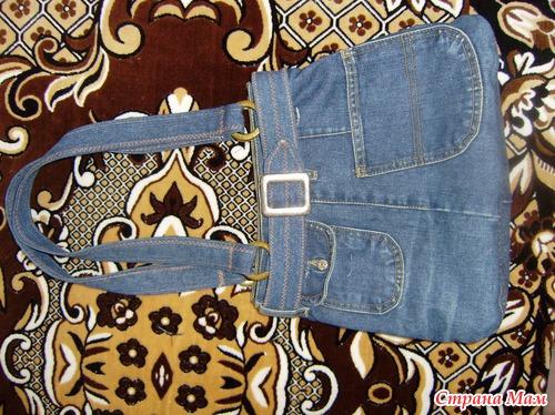 Как сшить из старых джинс сумки сумочки 5