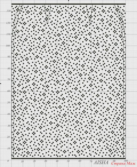 Филейное вязание юбка крючком 10
