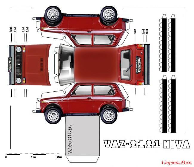 auto_036.jpg - Схемы для склейки автомобилей из бумаги - КНИГИ.