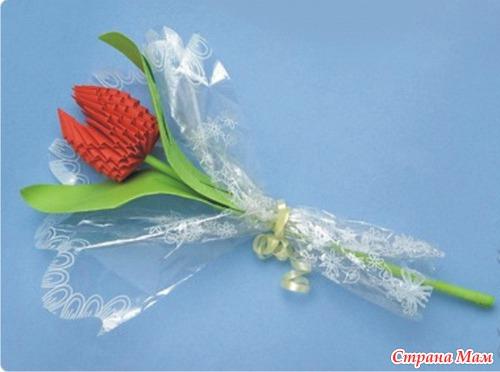 fellows: тюльпаны модульное оригами схема сборки.