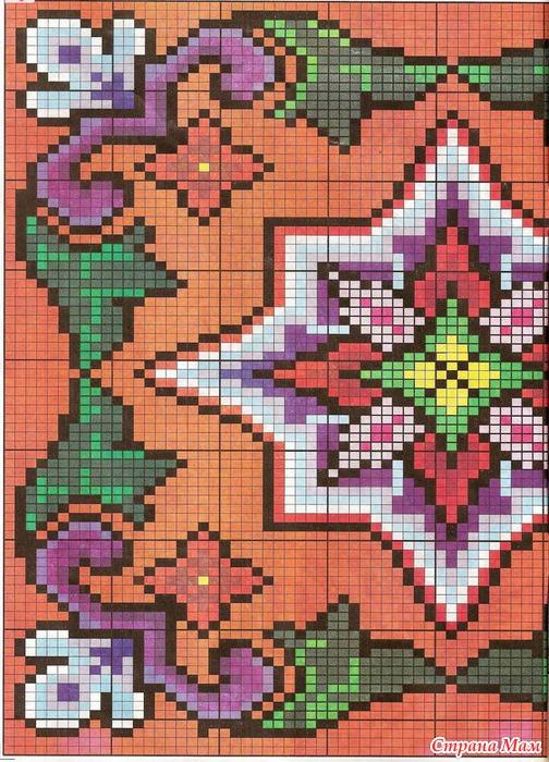 Вышивка крестом думки подушки схемы