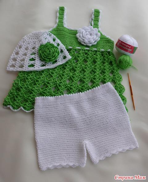 Вязание крючком схемы и описание платья для девочек страна мам