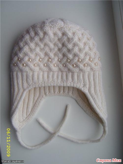 Спицы 3 для плетенки, 2... Нашла на просторах интернета вот такую шапочку, очень она мне понравилась.