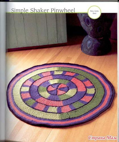 Вязание спицами круглых ковриков лепестками 55