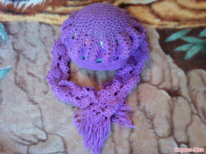 Ход работы вязание шарфа