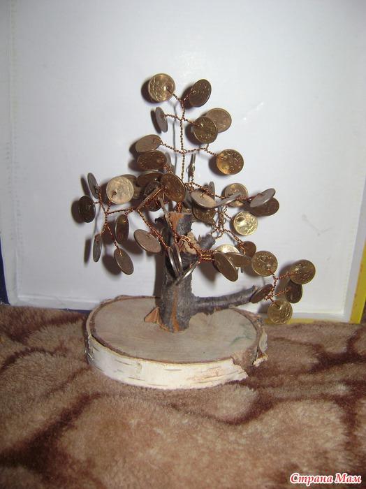 Картина Денежное дерево своими руками, мастер класс 79