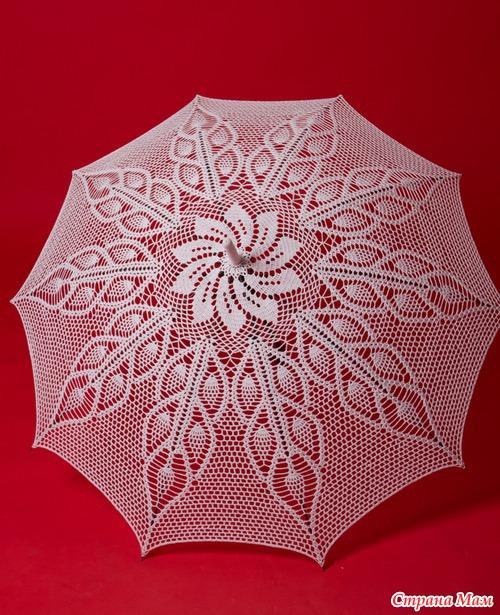Вязаные зонты (подборка)