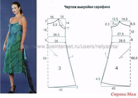 Трикотажное платье выкройка размер 50