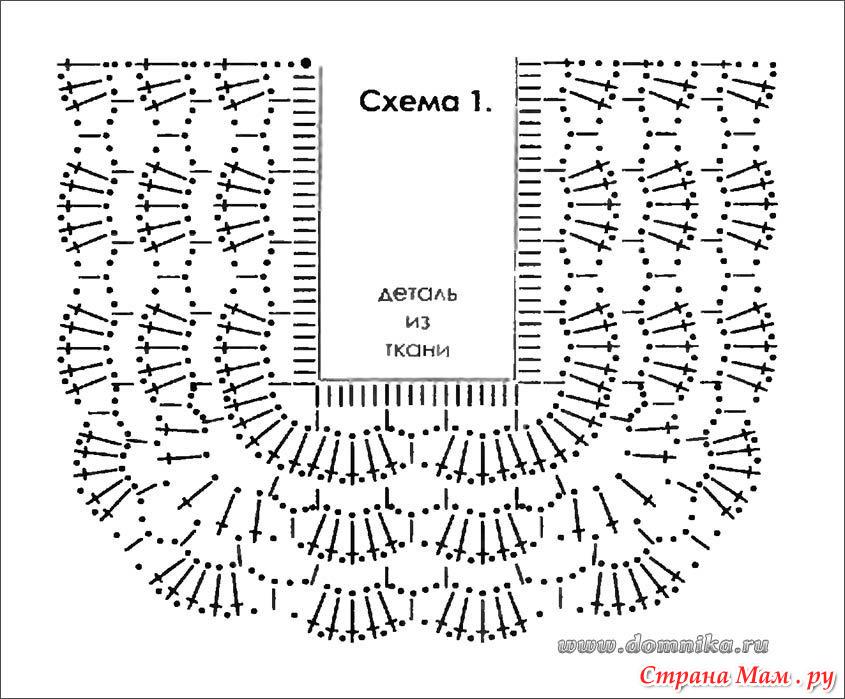 Схемы для вязания крючком для детей платья 177