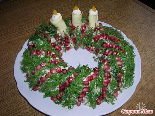 Украшение блюд с фото новый год