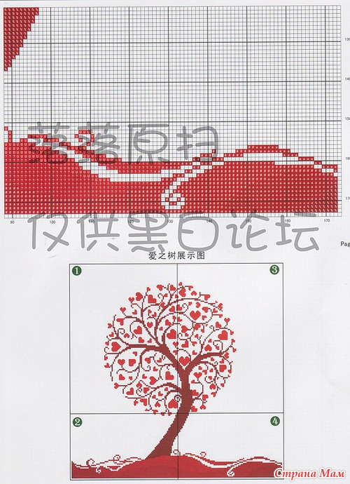 Вышивка сердца схема - Вышивай