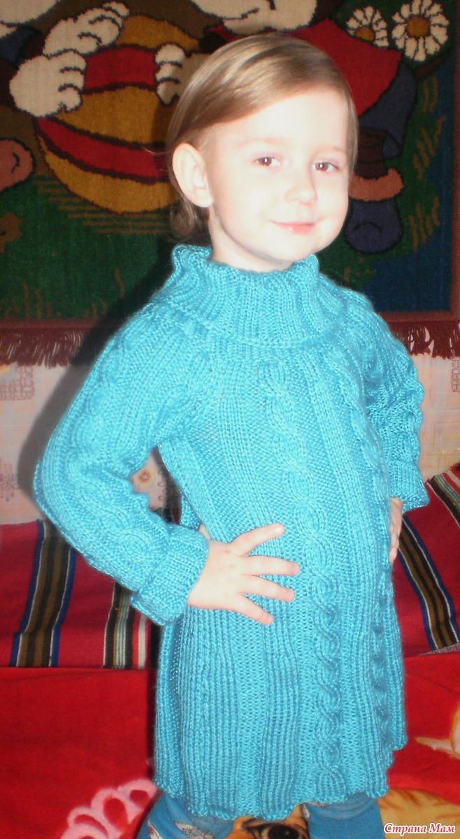 Вязание на спицах сарафан платье для девочи