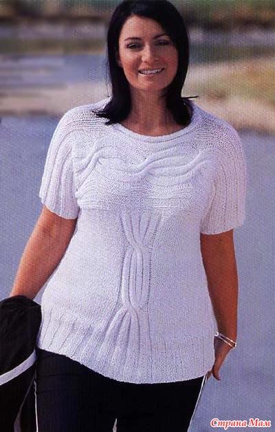 Вязание женские кофты для полных женщин