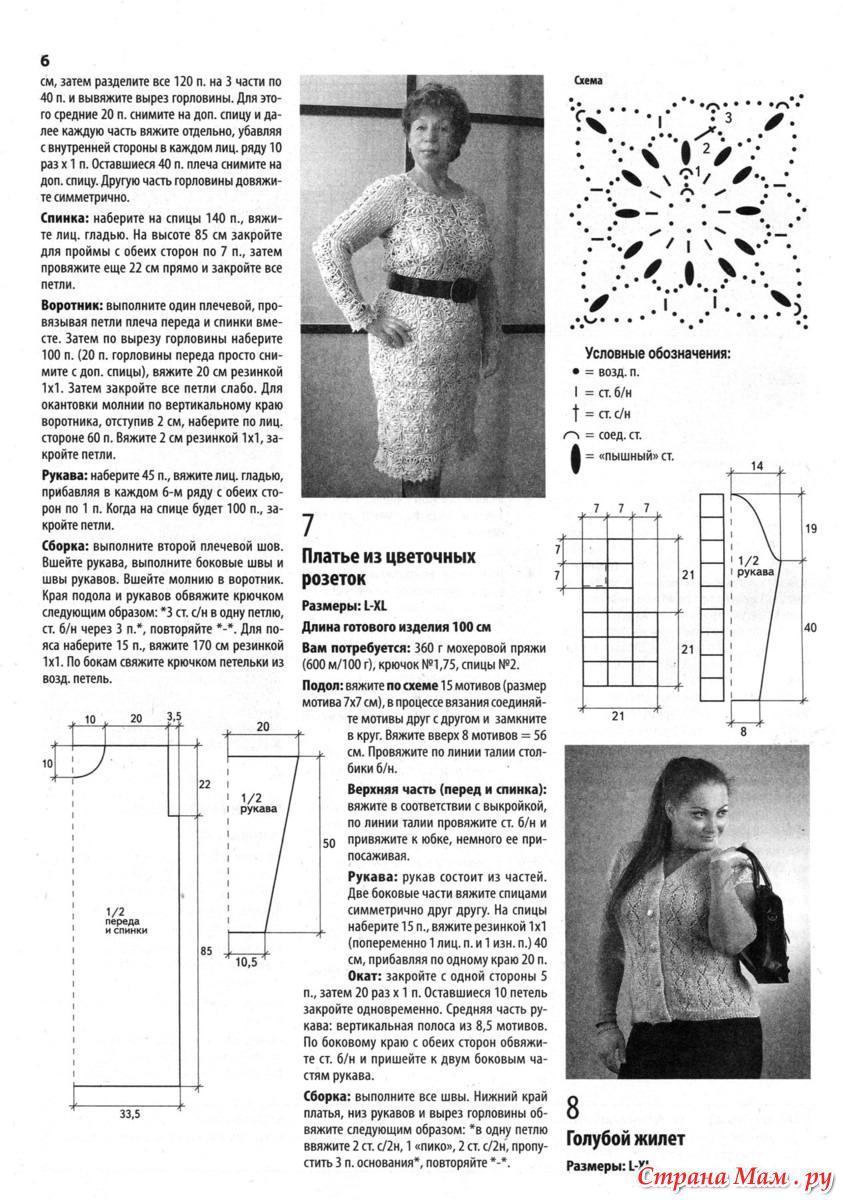схема вязания жилета 56 размера