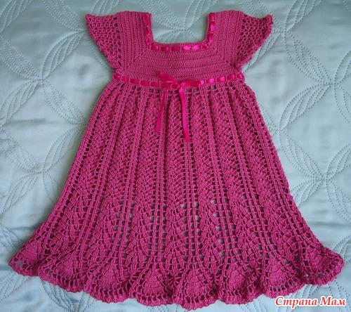 Как вязать платье для девочки.