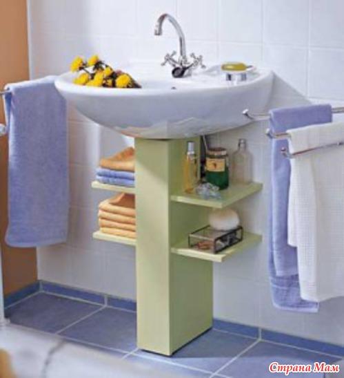 ТОП-7 идей как сделать тумбу для ванной своими руками 55