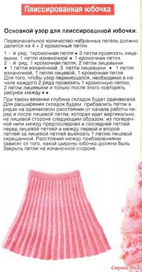 Детские вязанные юбки со ми