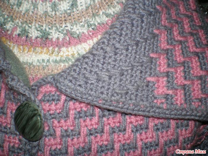Вязание двухцветных узоров для тапочек