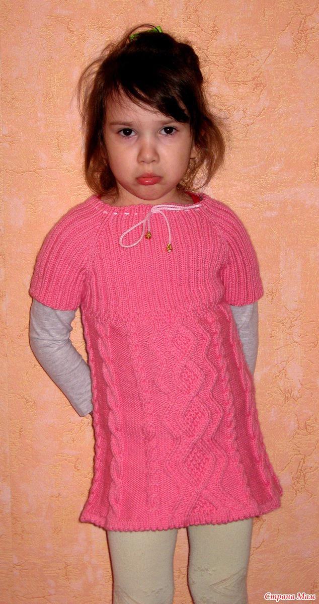 Вязанная туника для девочке
