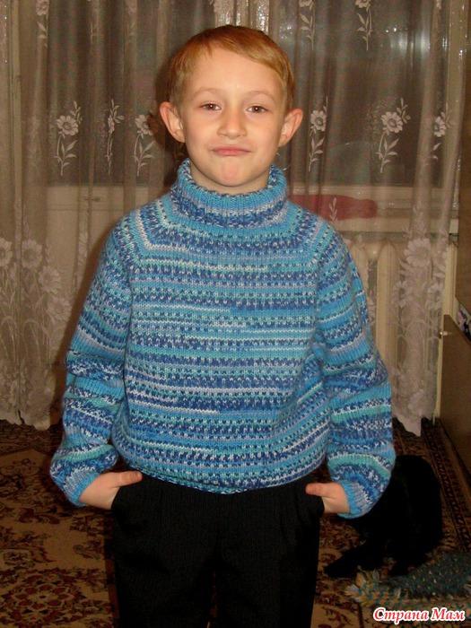 Вязание свитер для мальчика фото