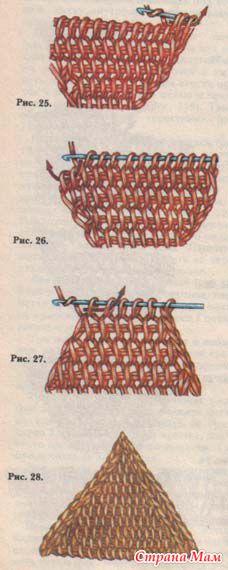 Рукоделие тунисское вязание