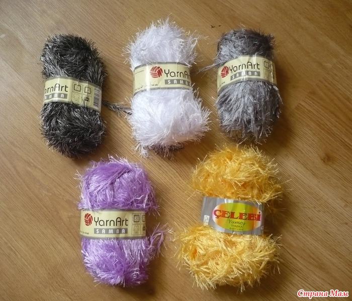Нитки пушистые для вязания