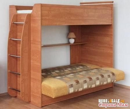Кровать детская двухъярусная с диван