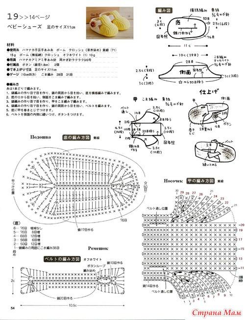 Вязаные пинетки крючком фото и схема