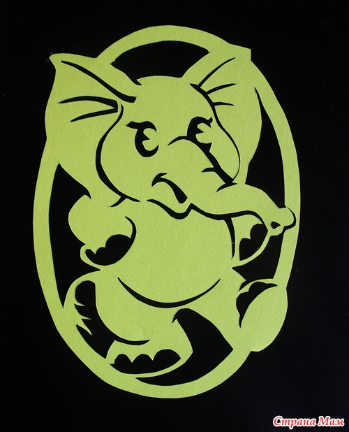 Слоненок и птички вырезалки дневник