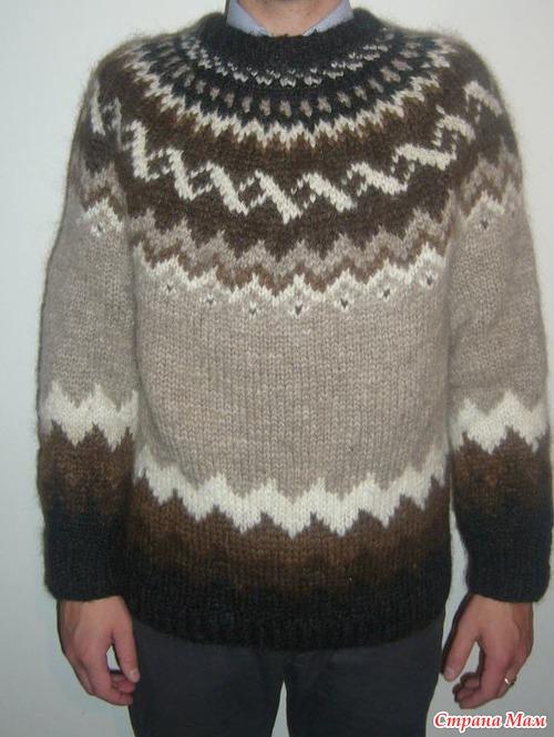 как связать исландский свитер схема - Выкройки одежды для детей и вязать из мохера свитер.