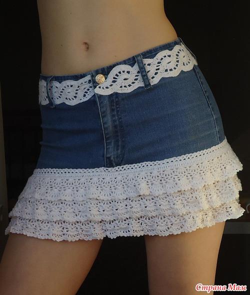 юбка с рюшками крючком: