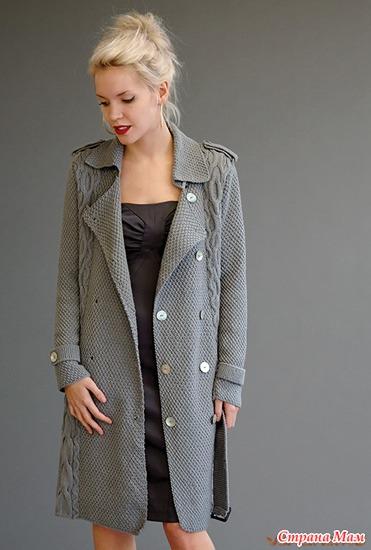 Вязание пальто спицами из толстой пряжи holt smoulder
