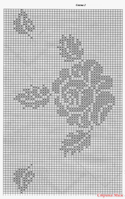 Узоры для вязания крючком розы схема