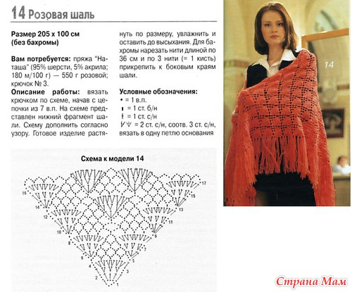 Вязание простые шали 61