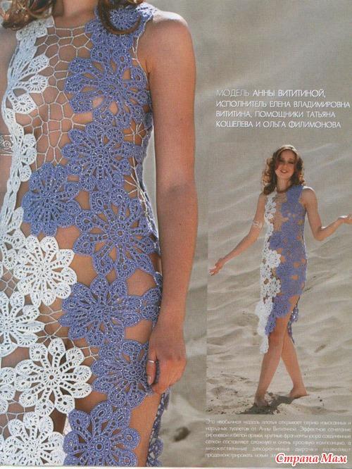 Вязания крючком мотивов платье