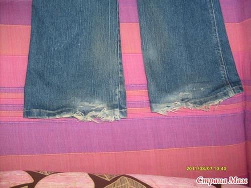С джинсов можно сделать капри, бриджи и шорты, а я решила перешить с них модные зауженные джинсы.