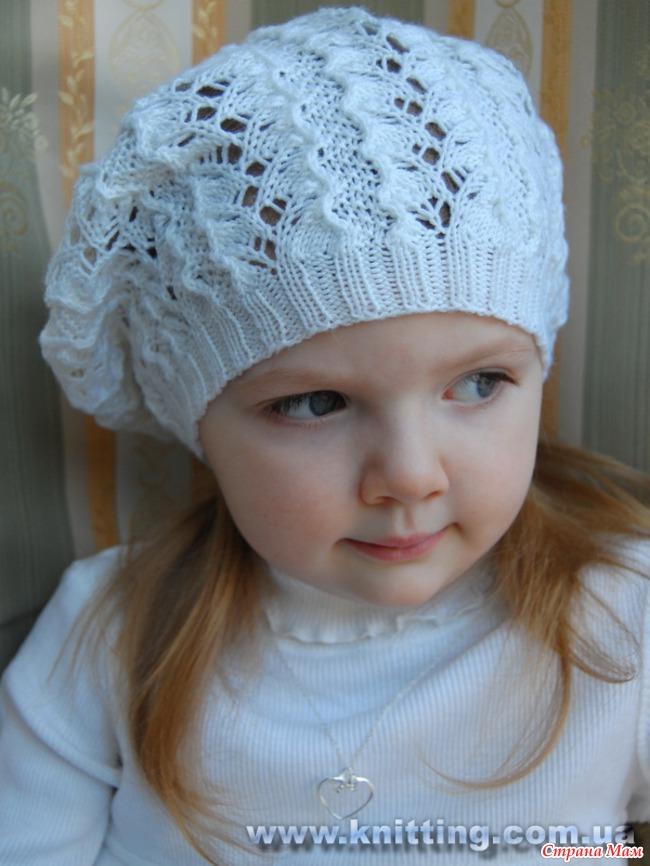 вязание беретов для девочек